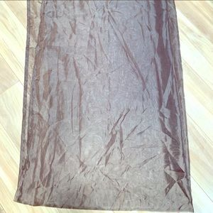 Other - Sheer brown tulle curtain